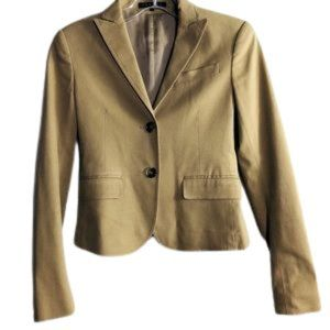 THEORY tailored Blazer tan 2 buttons SIZE: 00